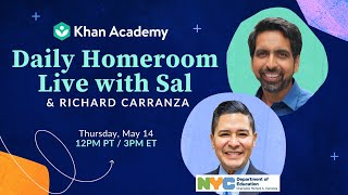 Daily Homeroom Live with Sal: Thursday, May 14