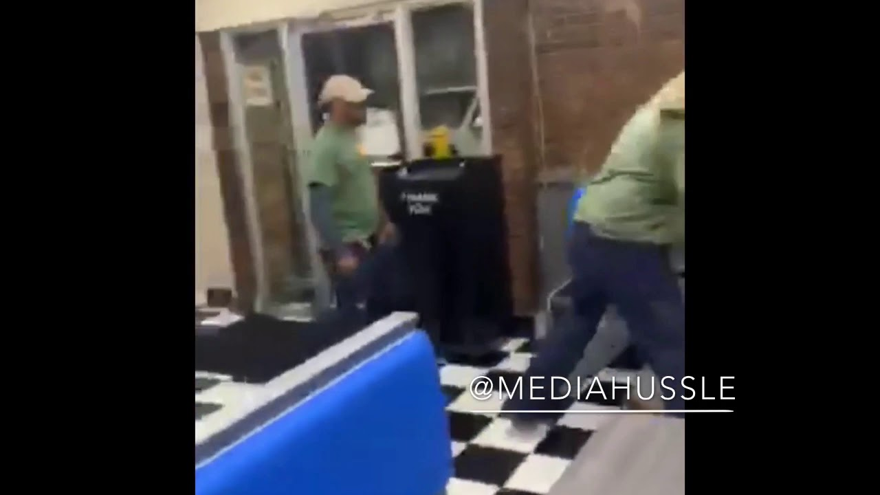 Crazy fight at L George's Coney Island. (Detroit)