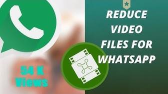 Convert videos for Whatsapp Free!!!