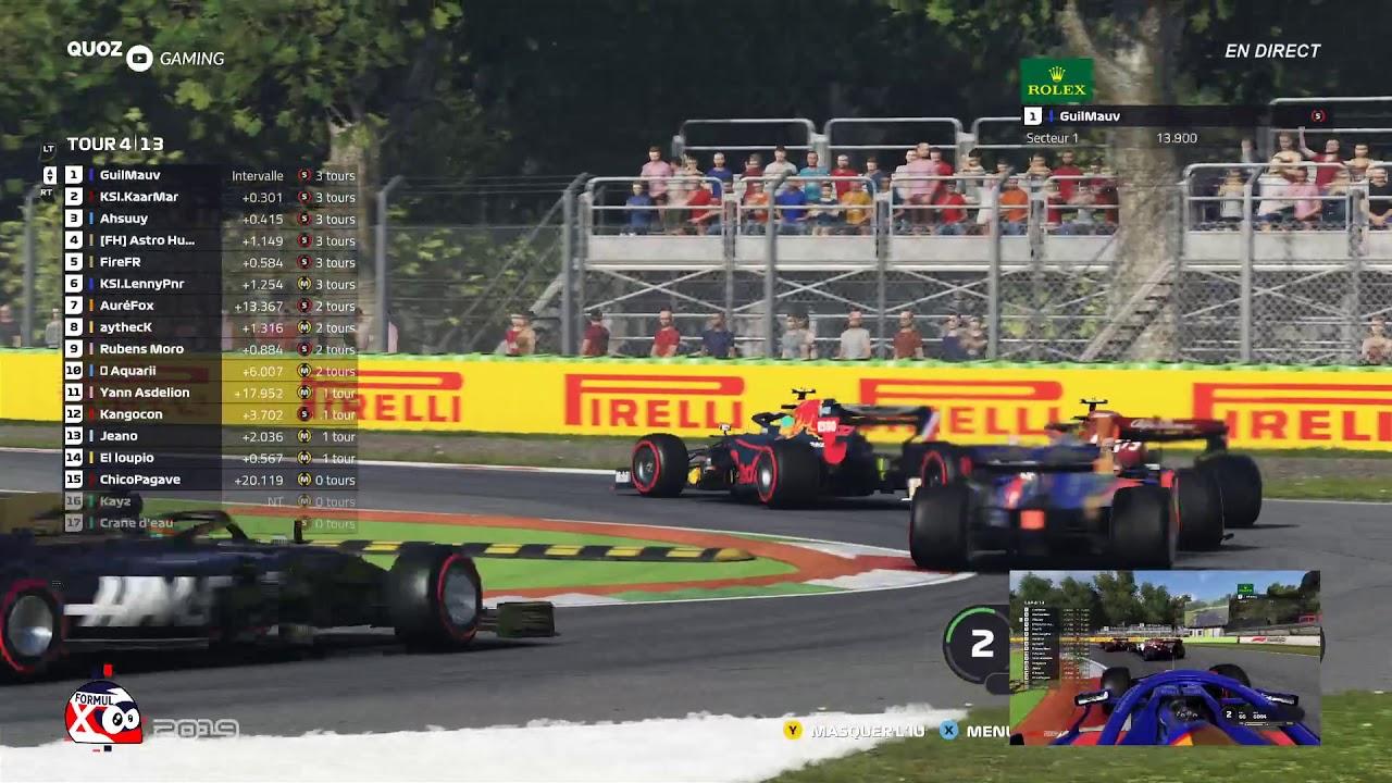 GP de folie sur F1 2019 en ligne (FormulX F1 eSeries) - QuozGaming