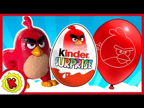 Энгри бердз. Киндер Сюрприз. Angry Birds в кино. Kinder Surprise.