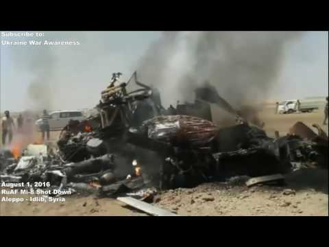 Russian Mi-8 Helicopter shot down in Syria, August 1, 2016 Aleppo.