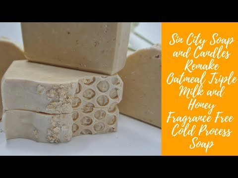 Remake Oatmeal Triple Milk and Honey Fragrance Free Cold Process Soap SV