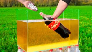 Experiment: Coca Cola and Mentos in Oil