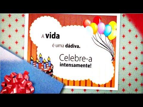 Mensagem de Aniversário Cartão Animado para você