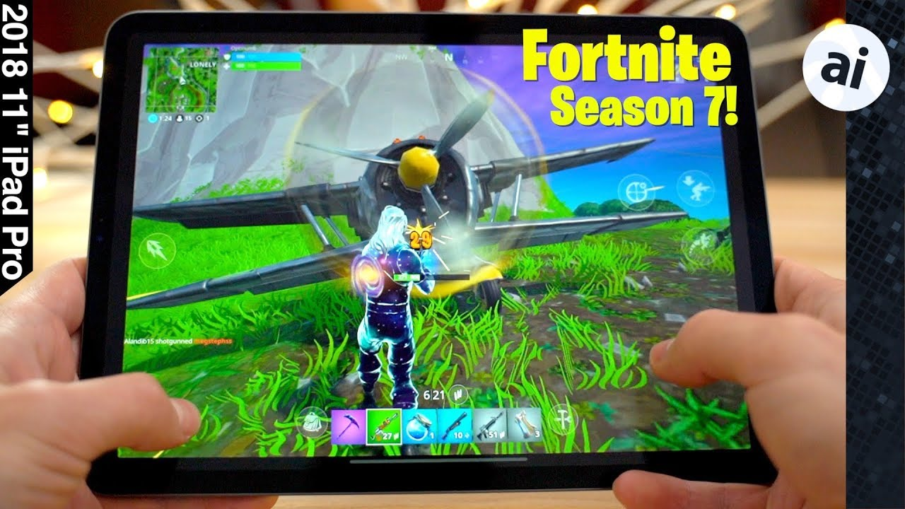 Watch Apple's iPad Pro chew through Fortnite at 60fps