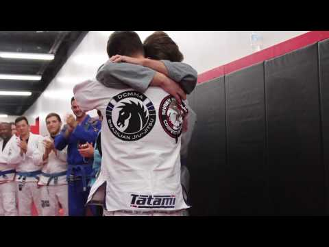 "Promoting my ""little brother"" to BJJ Black Belt"