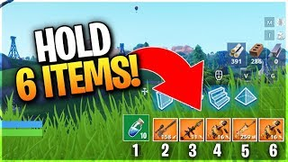 HOLD 6 ITEMS AT ONCE! - Extra Inventory Slot Glitch (Fortnite Season 7 Glitches)