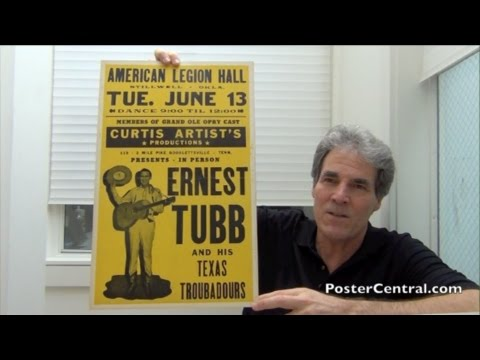 Ernest Tubb Concert Posters 1950's - Five Different Rare Specimens