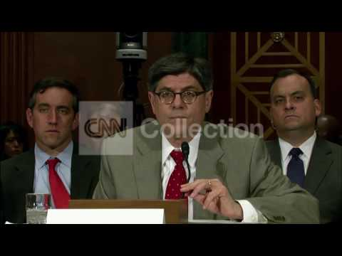 SENATE BANKING-TREASURY SECY JACK LEW TESTIFIES
