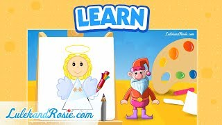 How to draw an angel? - Drawing school (part1) Tutorial for children LulekandRosie.com
