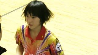 Table Tennis 加藤美優 × 山本怜 全日本卓球2013-117 山本怜 検索動画 7