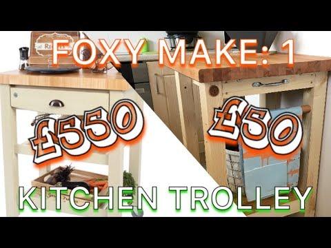 DIY Kitchen Trolley / Kitchen Island / Utility Cart