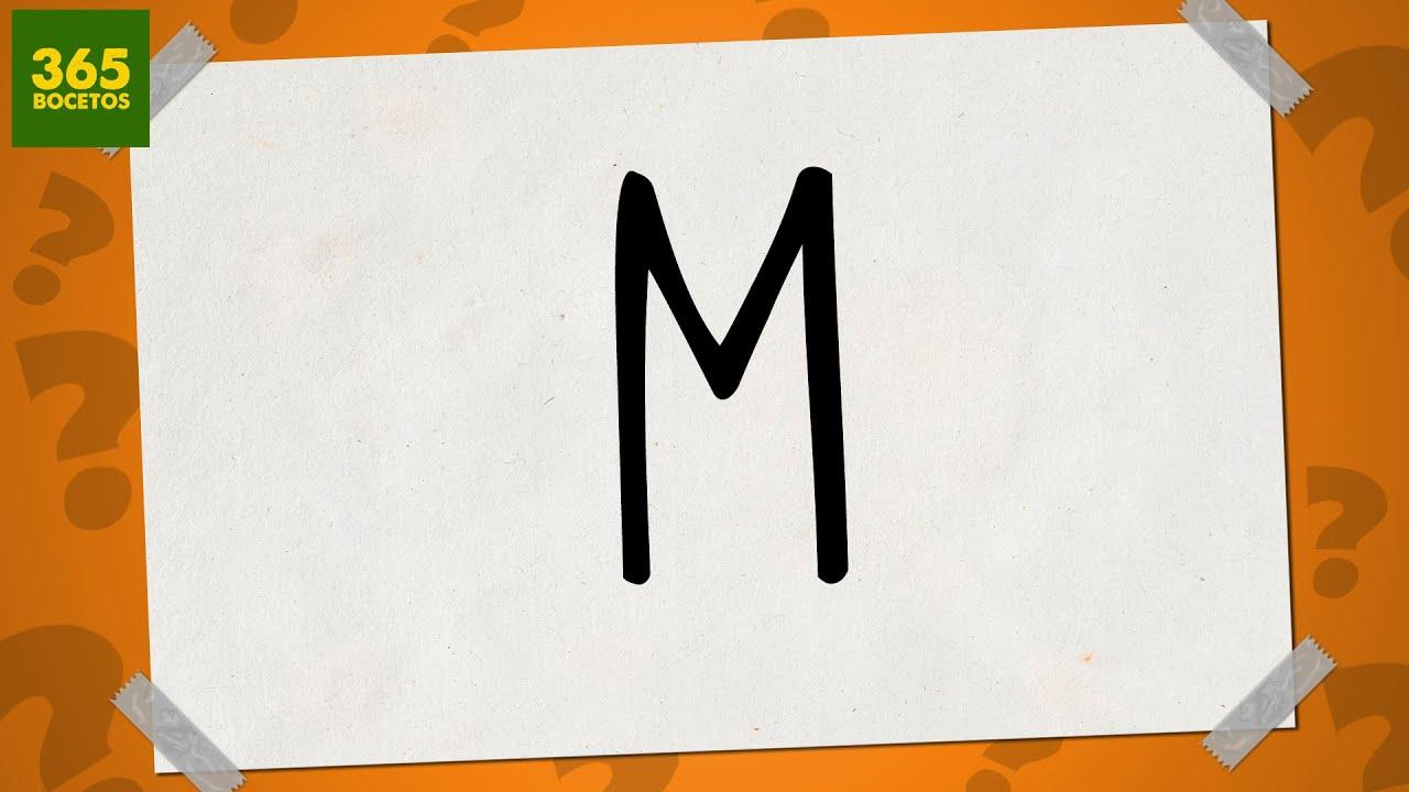 SACAR UN DIBUJO DE LA LETRA M - Dibujos fáciles paso a ...