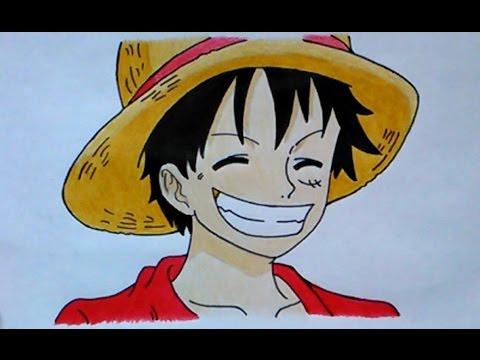 Como dibujar a luffy paso a paso how to draw luffy for Dibujos one piece