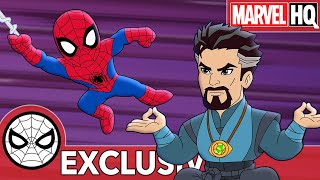 Spidey Does Sorcerer Spring Cleaning! | Marvel Super Hero Adventures - Not So Dry Cleaners | SHORT