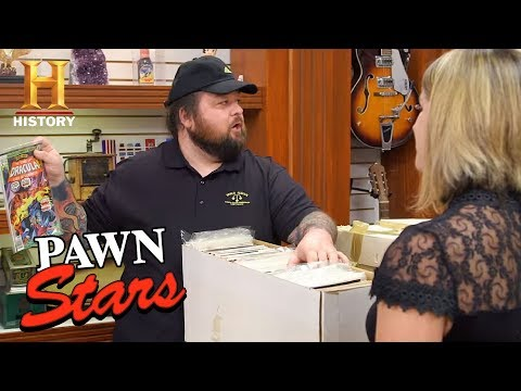 Pawn Stars: Chum Bets on Boxes of Comic Books (Season 15) | History