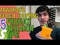 5 TIPS To Find SELLING AdWords / Google Shopping Products!