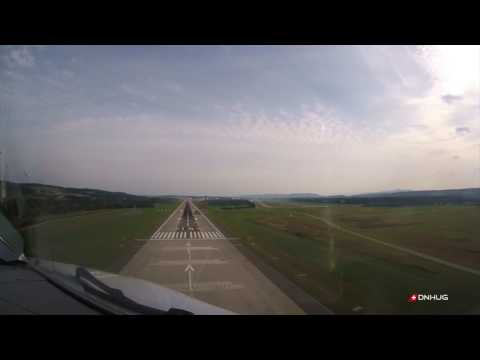 A340 4K Noseview Landing at Zurich LSZH