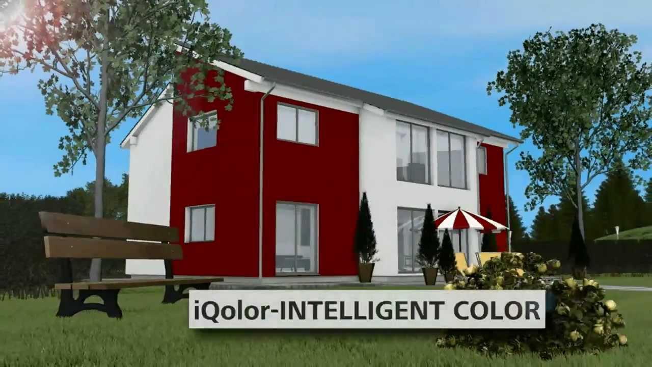Fassadenfarbe Grau iqolor intelligent color die intelligenten fassadenfarben sto