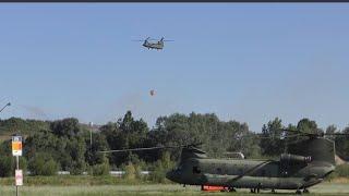 4K GROTE BRAND TWENCE: INPAKKEN BAMBI BUCKET CHINOOK HELI