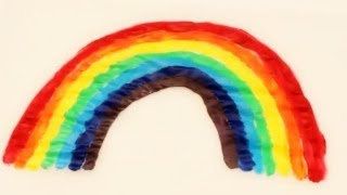How to make a Wax Paper Rainbow