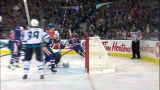 Ales Hemsky snipe snapshot goal 3-2 Winnipeg Jets vs Edmonton Oilers 10/1/13 NHL Hockey