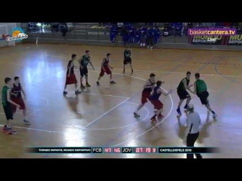 U14M - FINAL Torneo U14 FIBA Castelldefels FC. BARCELONA vs. JOVENTUT (BasketCantera.TV) DIRECTO