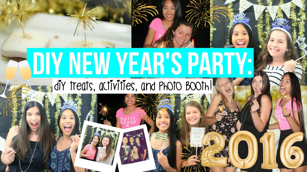 Diy New Years Party Decor Treats And Photo Booth
