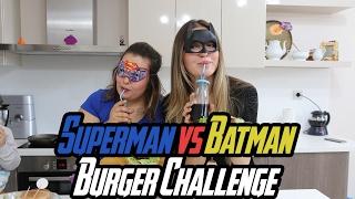 SÜPER KAHRAMAN HAMBURGERİ YAPTIK! BATMAN, SUPERMAN:)