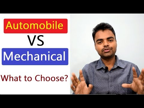 Difference Between Automobile Engineering and Mechanical Engineering in B.Tech, Diploma