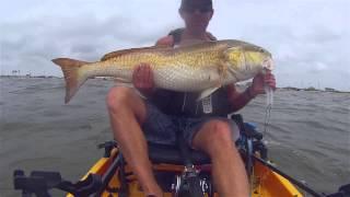 Kayak Fishing: Landing Big Bull Redfish Offshore