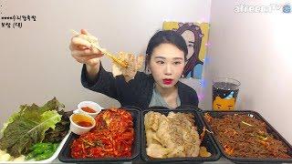 처음 먹어보는 보쌈 먹방 Mukbang eating show 180304