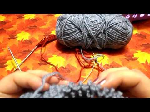 Резинка спицами для свитера видео