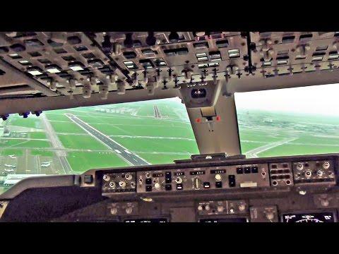 Boeing 747-400 Cockpit - Breakoff Landing Amsterdam Schiphol