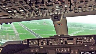 Repeat youtube video Boeing 747-400 Cockpit - Breakoff Landing Amsterdam Schiphol