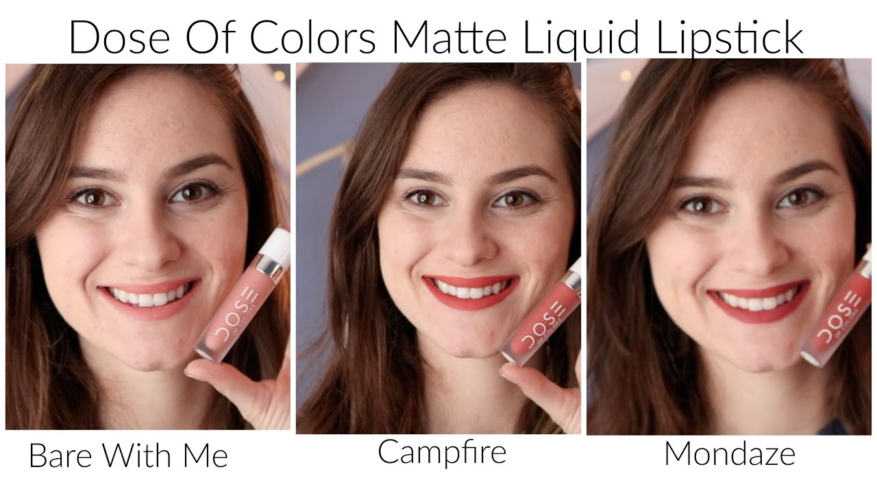 new dose of colors matte liquid lipstick swatches youtube. Black Bedroom Furniture Sets. Home Design Ideas