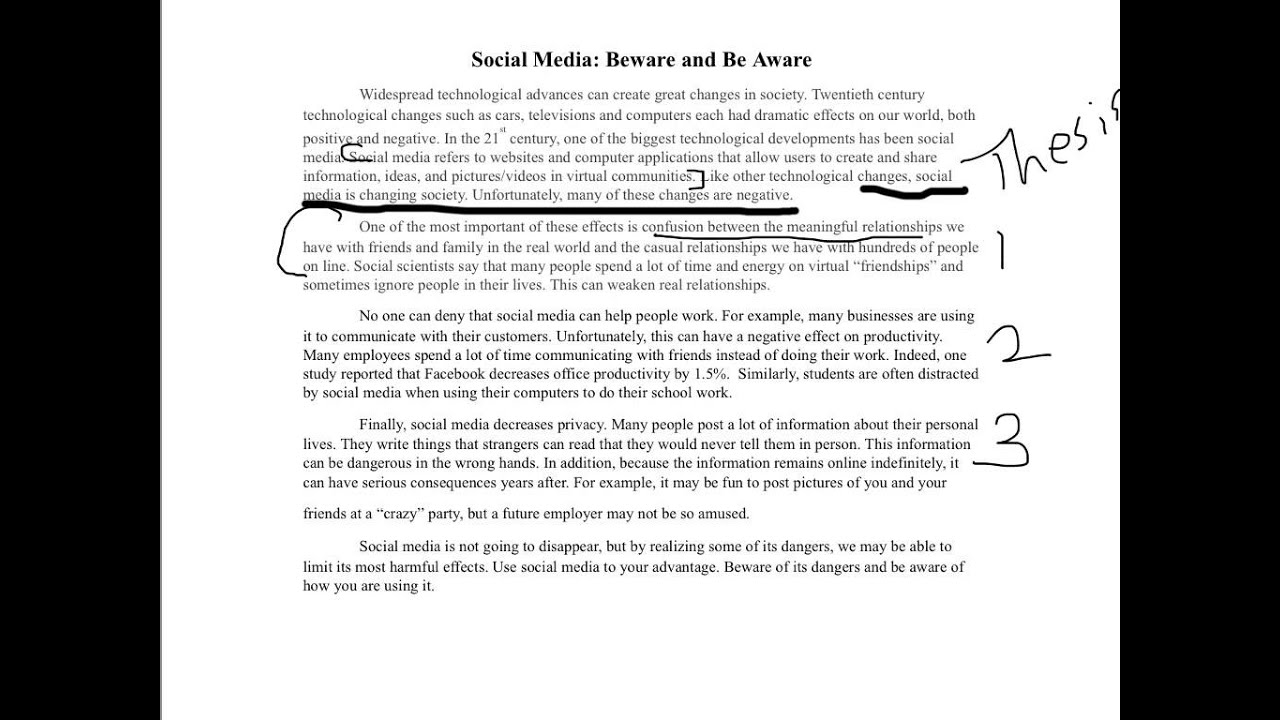 social media example essay youtube