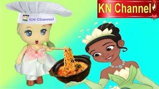 Trò chơi KN Channel BÚP BÊ LÀM ĐẦU BẾP NẤU MÌ CAY 7 CẤP ĐỘ CÙNG CÔNG CHÚA TIANA & The Frog