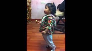 Latinoamerican baby dancing indian song