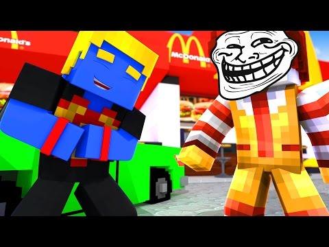 Minecraft: O MCDONALDS TROLL | Afreim [ Troll Craft ]
