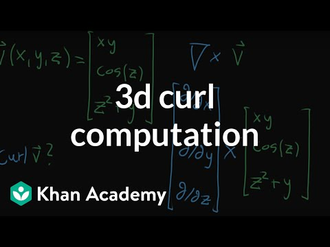 3d curl computation example