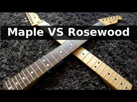 ROSEWOOD vs MAPLE - Guitar Tone Comparison!