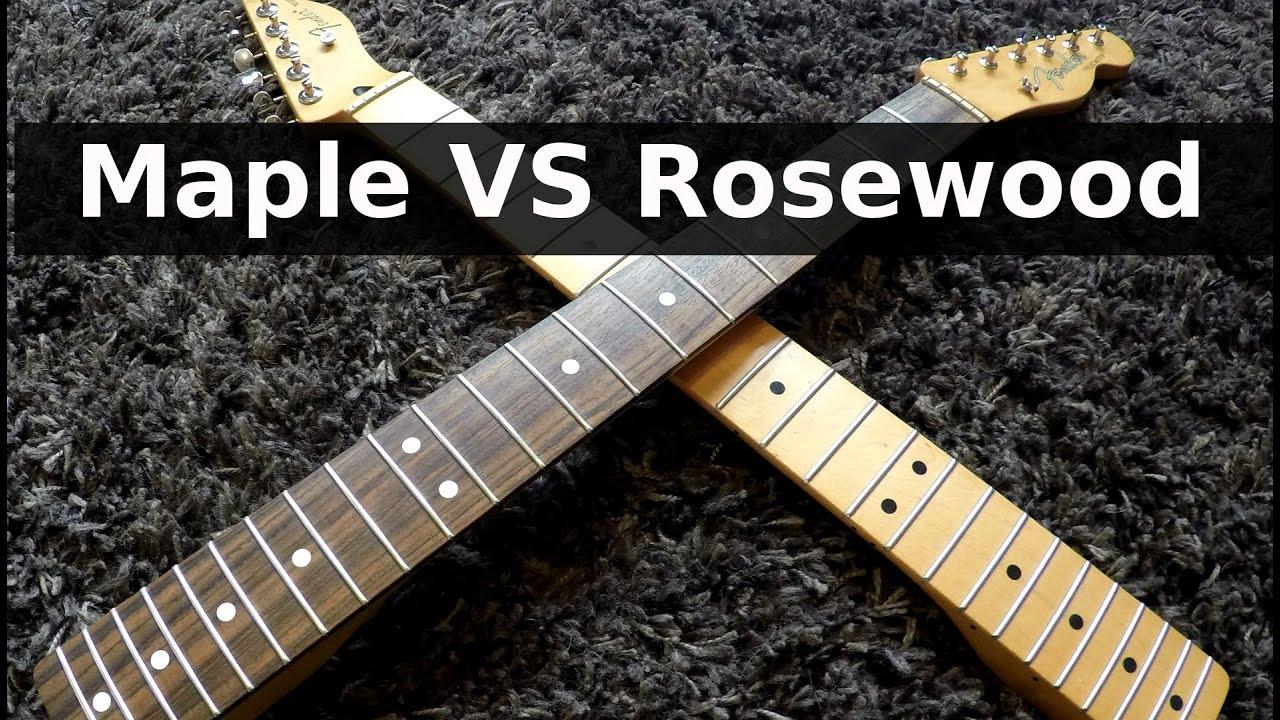 Ebony vs rosewood fretboard