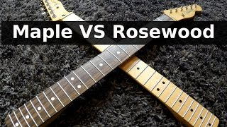 ROSEWOOD vs MAPLE - Guitar Tone Comparison!