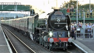Tornado Stopping At Severn Tunnel Junction, The Pembroke Coast Express & Freight - July 2019