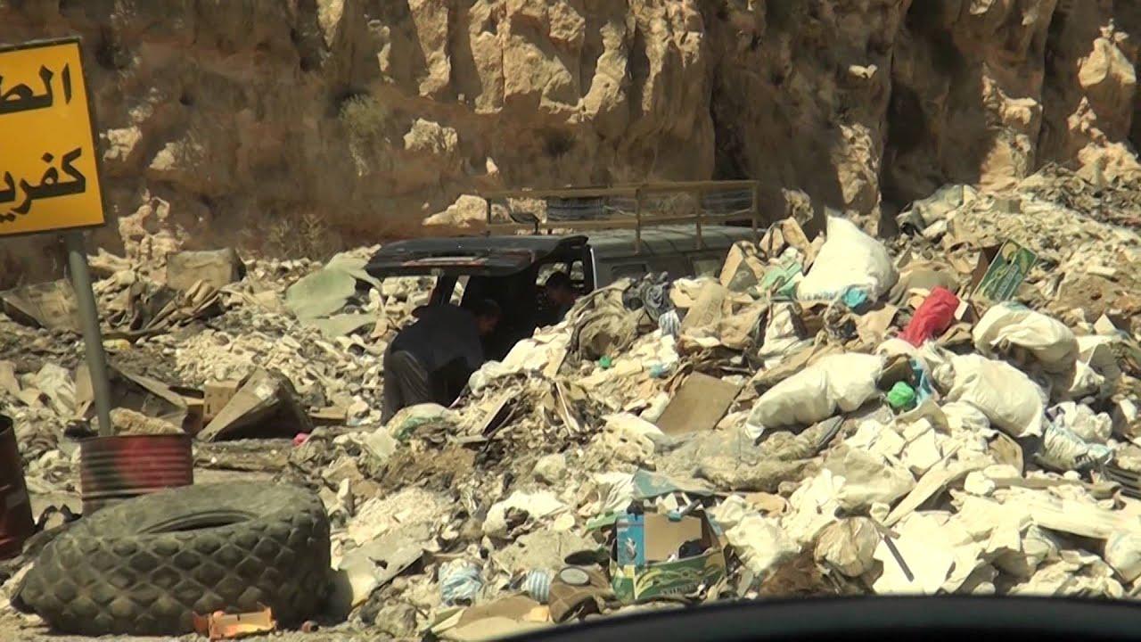 وادي الغفر يعاني من تراكم النفايات، وبلدية إربد غائبة تماماً