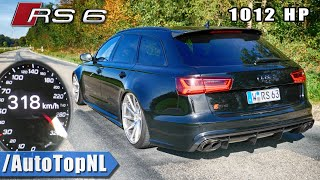 1012HP AUDI RS6 | 0-318km/h ACCELERATION & DRAGY GPS by AutoTopNL