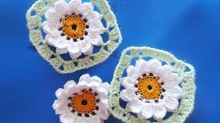 Цветок в квадрате  Flower Crochet squared