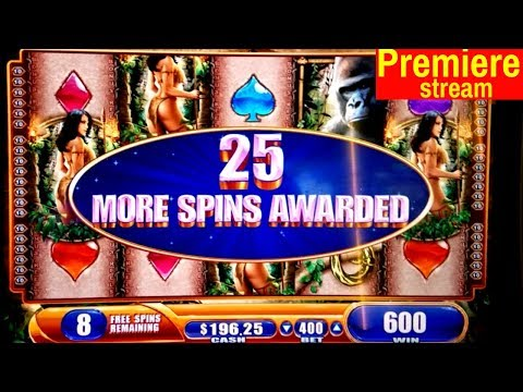 $700 Premiere Stream | Queen Of The Wiald Slot Machine BONUSES | Money Charge Jackpots Slot Machine